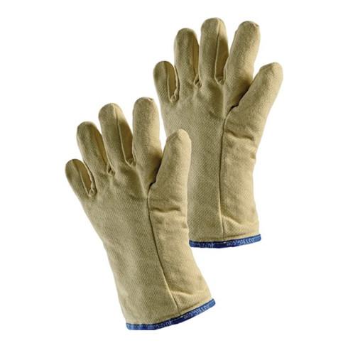 Gants de protection thermique 5 doigts, T. universelle nature tissu aramide EN 3