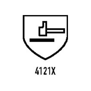 Gants en PVC Petroben multiusage 133 taille 9 rouge-marron tricot en coton avec