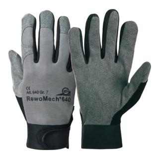 Gants en similicuir RewoMech 640 taille 10 noir/gris similicuir/EL EN 388 cat. I