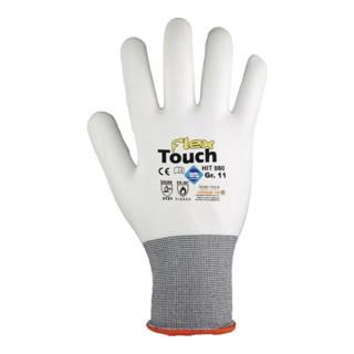 Gants Hit Flex Touch T. 10 blanc 98 % PA, 2 % EL EN 388, EN 407 cat. II 12 PA HI
