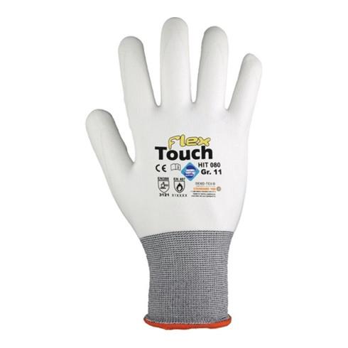Gants Hit Flex Touch T. 7 blanc 98 % PA, 2 % EL EN 388, EN 407 cat. II 12 PA HIT