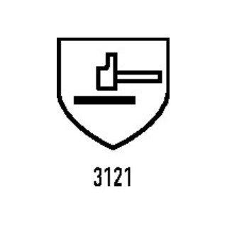 Gants Hit Flex Touch T. 9 blanc 98 % PA, 2 % EL EN 388, EN 407 cat. II 12 PA HIT
