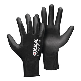 Gants X-TOUCH-PU-B T. 8 noir support nylon EN 388 cat. II 3 pair OXXA