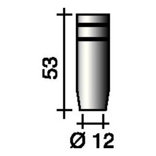 Gasdüse kon. (Standard) Nennweite 12mm Trafimet