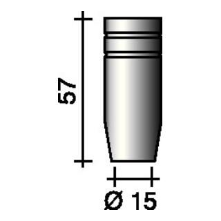 Gasdüse kon. (Standard) Nennweite 15mm Trafimet