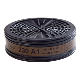 Gasfilter 230 A1 f.Halbmaske f.Gase u.Dämpfe f. Art.Nr.4000370780