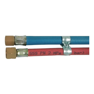 Gasschlauch montiert Sauerst./Acetylen 6,3x5,0 1/4ZollRH 8,0x3,5 3/8ZollLH L.10