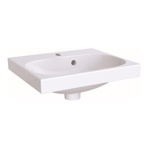 Geberit Handwaschbecken ACANTO 450 x 382 mm, mit Hahnloch, mit Überlauf weiß