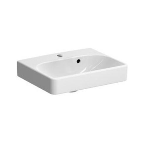 Geberit Handwaschbecken SMYLE 450 x 360 mm, mit Hahnloch, mit Überlauf weiß