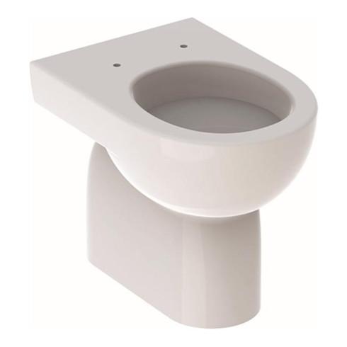 Geberit Stand-Tiefspül-WC RENOVA teilgeschlossene Form Abgang horizontal weiß