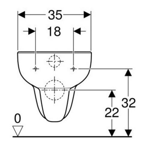 Geberit Tiefspül-WC SMYLE spülrandlos, wandhängend, 6 l weiß