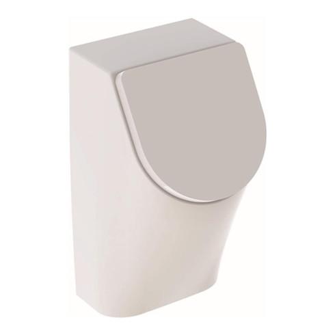 Geberit Urinal RENOVA PLAN mit Deckel, Zulauf von hinten, Abgang nach hinten weiß