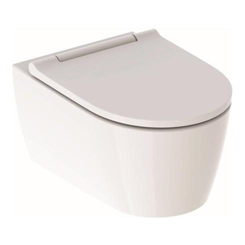 Geberit Wand-Tiefspül-WC ONE mit WC-Sitz, weiß Designabdeckung weiß