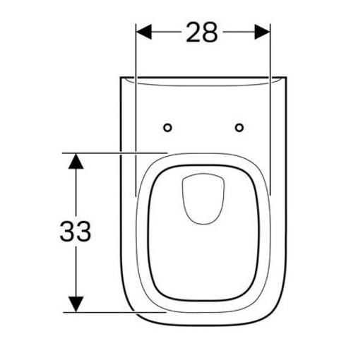 Geberit Wand-Tiefspül-WC RENOVA PLAN mit Spülrand weiß