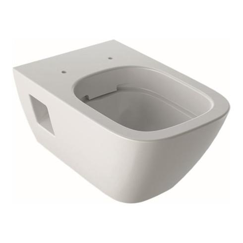 Geberit Wand-Tiefspül-WC RENOVA PLAN Rimfree, teilgeschlossene Form weiß
