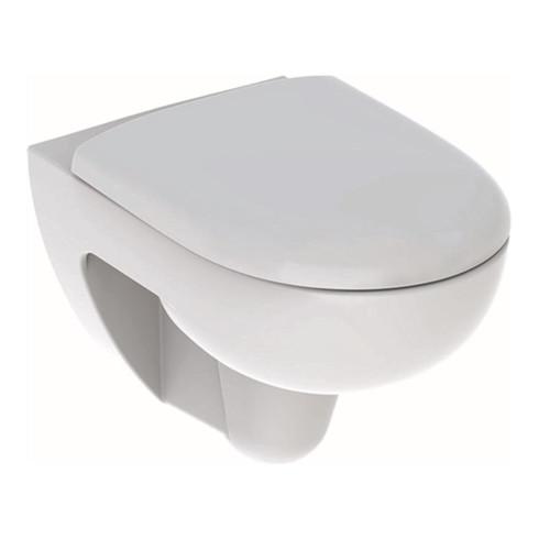 Geberit Wand-Tiefspül-WC RENOVA Rimfree, mit WC-Sitz weiß