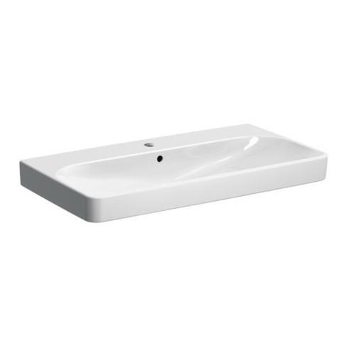 Geberit Waschtisch SMYLE 900 x 480 mm, mit Hahnloch, mit Überlauf weiß
