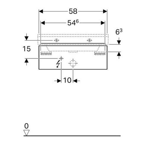 Geberit Waschtischunterschrank XENO² 580 x 220 x 462 mm Korpus/Front: Holzstruktur Scultura Grau
