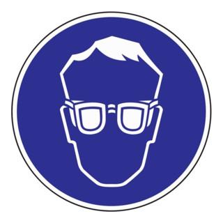Gebotszeichen Augenschutz benutzen D.200mm Kunststoffschild blau/weiß