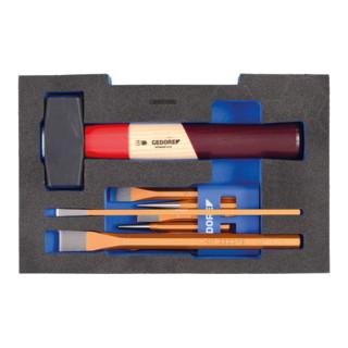 Gedore Meißel-Sortiment in 1/2 L-BOXX 136 Modul
