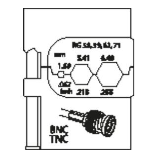 Modul-Einsatz für Koax-Verbinder RG 58/59/62/71