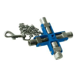 Gedore Schaltschrank-Schlüssel Universal,Maße: 95 x 95 mm