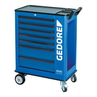 Gedore Werkzeugwagen mit 7 Schubladen (5 breite und 2 Großraumschubladen)