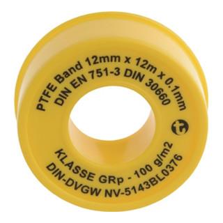GEKA PTFE Dichtband L.12m x B.12mm x D.0,1mm SB GEKA