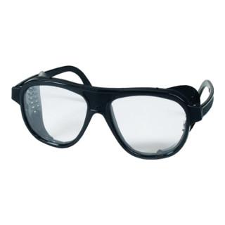 Georg Schmerler Schutzbrille EN 166 Bügel schwarz,Scheiben klar Nylon,Ku.