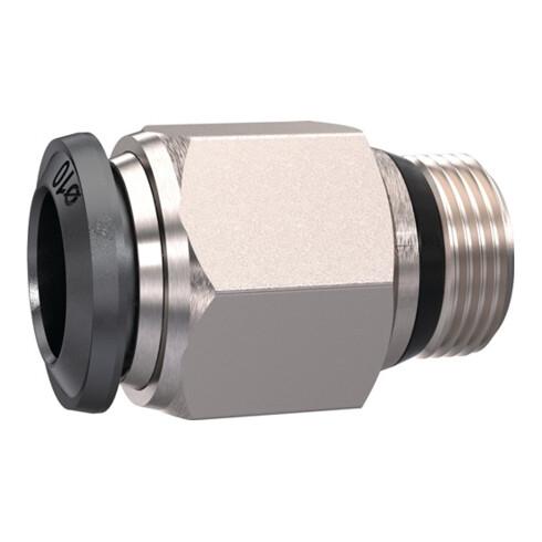 Gerade Steckverschraubung universal short AG 1/4 Zoll SW 17mm kon.10mm RIEGLER
