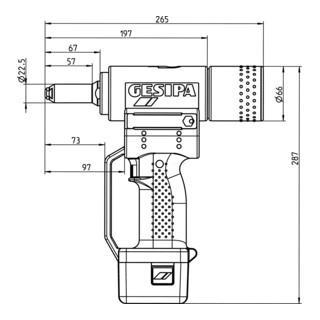 Gesipa Blindniet-Setzgerät AccuBird (2 Li-Ion Akkus 1,3 Ah / Ladegerät)
