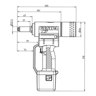 Gesipa Blindniet-Setzgerät PowerBird (1 Li-Ion Akku 2,6 Ah / Ladegerät)