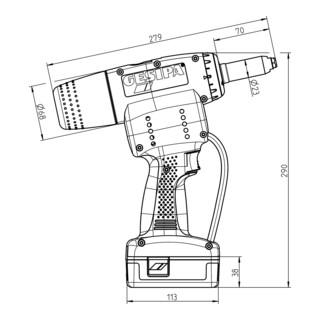 Gesipa Blindniet-Setzgerät PowerBird Pro (1 Li-Ion Akku 2,1 Ah / Ladegerät)