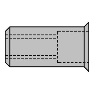 Gesipa Blindnietmutter Alu Kleinkopf M6 x 9 x 15,5 mm