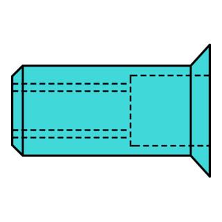 Gesipa Blindnietmuttern A2-Edelstahl Senkkopf M 8 x 11 x 20