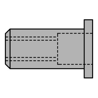 Gesipa Blindnietmuttern Alu M 8 x 11 x 17