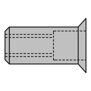Gesipa Blindnietmuttern Alu Senkkopf M 10 x 12 x 19