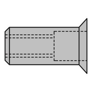 Gesipa Blindnietmuttern Alu Senkkopf M 4 x 6 x 12