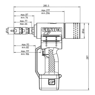 Gesipa Blindnietmuttern-Setzgerät FireBird (1 Li-Ion Akku 1,3 Ah / Ladegerät)