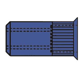 Gesipa Blindnietmuttern Stahl-gerändelt Kleinkopf M 5 x 7 x 12,5