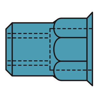 Gesipa Blindnietmuttern Teilsechskant A2-Edelstahl Kleinkopf M5x7x12,5