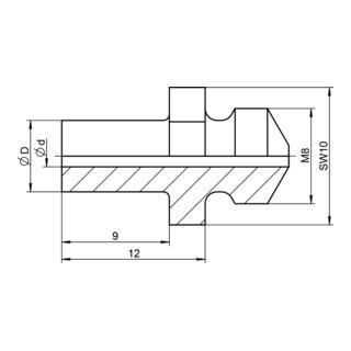 Gesipa Ersatzteil Mundstück V 9 mm Verlängerung