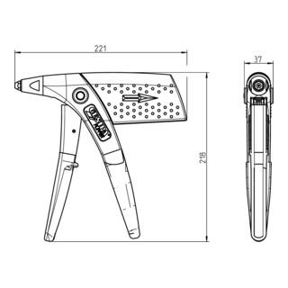 Gesipa Hand-Blindniet-Setzgerät Flipper-Box Set Frühjahrsaktion