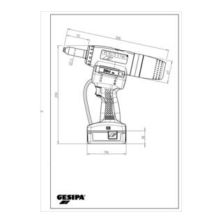 Gesipa iBird® Pro mit 1 Li-Ion-Akku und Ladegerät