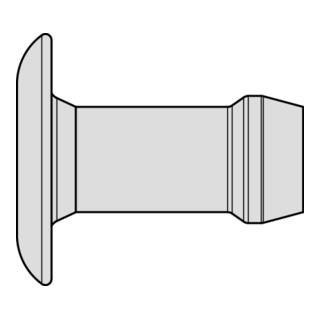 Gesipa Magazin-Blindniet Speed Bulb® Alu Flachrundkopf 3,2 x 5,2 Übergröße
