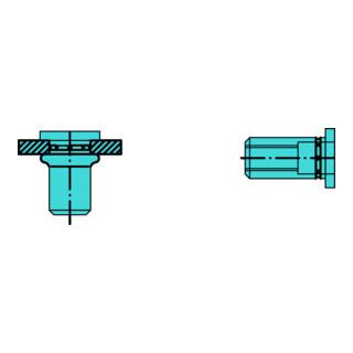 Gesipa PolyGrip Blindnietmuttern Mini-Pack Edelstahl A2 M 6 x 9 x 18