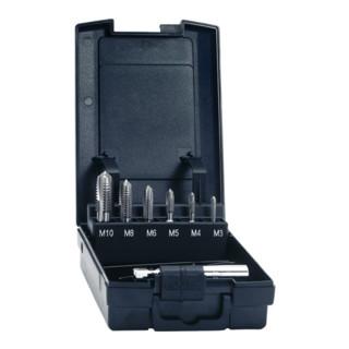 Gewindebohrerbitsatz DIN3126 7tlg. HSSG 1/4 Zoll 6KT Ku.-Box EXACT