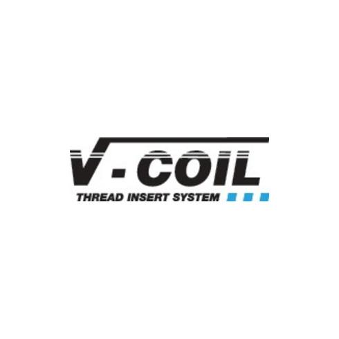 Gewindeeinsatz DIN 8140 Typ Stand.f.M6x1mm rostfr.Stahl 1,5xD 100 St.V-COIL
