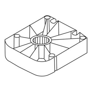 Gleiter f. Sockelverstellfuß Univ. Ku. schwarz Sockelhöhe 25mm Hettich