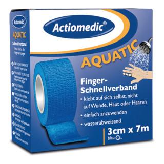 GRAMM medical Actiomedic aquatic Schnellverband, blau, 3 cm x 7 m, selbsthaftend